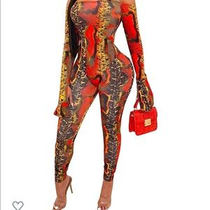 2 piece multi color print outfit